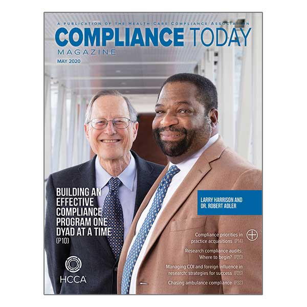May 2020 Compliance Today