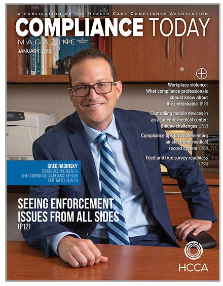 compliance today magazine January issue