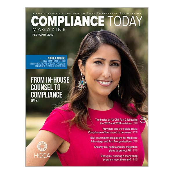 February Compliance Today Magazine